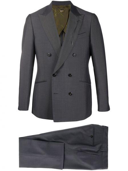 Пиджак на пуговицах с манжетами из мохера с карманами Maurizio Miri