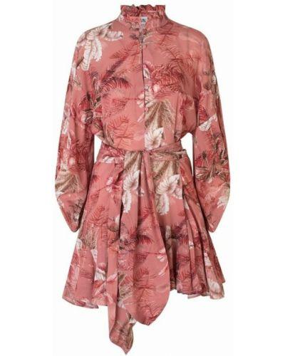 Czerwona sukienka z printem Ravn