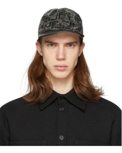 Czapka czarny z logo Fendi