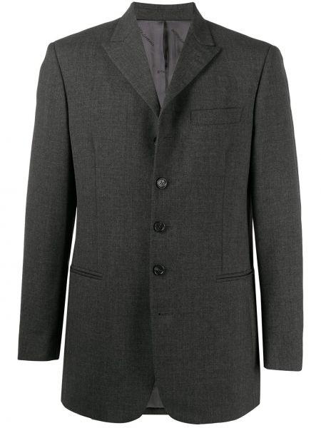 Серый однобортный пиджак с карманами на пуговицах Dolce & Gabbana Pre-owned