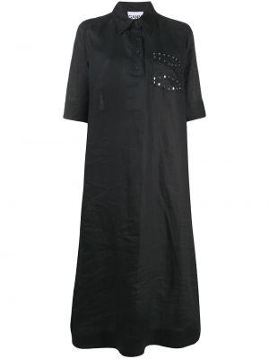 Платье мини короткое - черное Ganni