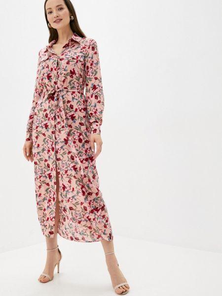 Платье платье-рубашка розовое Trendyangel
