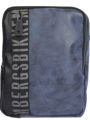 Кожаная сумка на молнии синий Bikkembergs