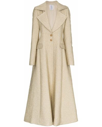 Расклешенное длинное пальто с капюшоном на пуговицах Rosie Assoulin