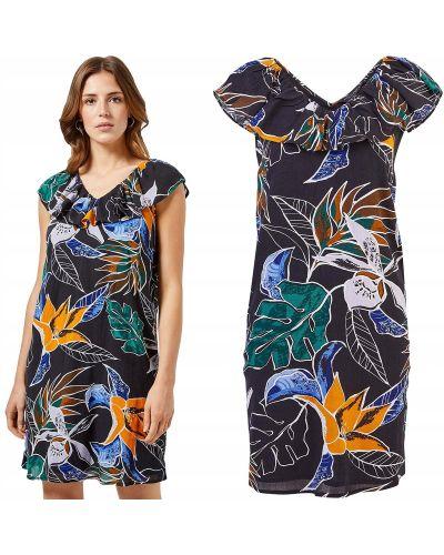 Sukienka mini w kwiaty - czarna Dorothy Perkins