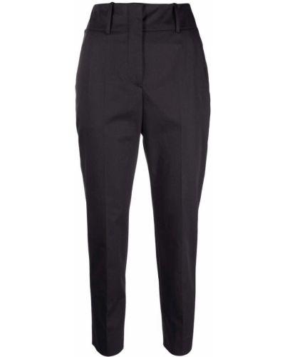 Хлопковые черные зауженные брюки Incotex