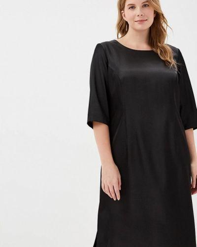 Повседневное платье осеннее черное Zar Style