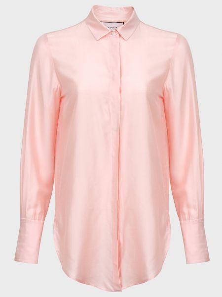 Розовая шелковая рубашка на пуговицах Bagutta