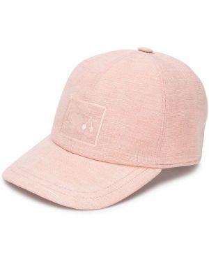 Różowa czapka z haftem Bonpoint