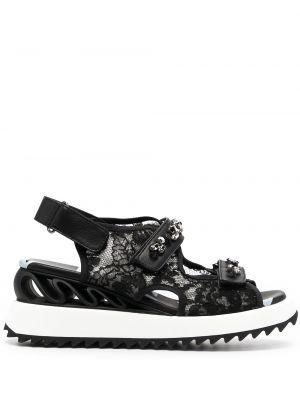 Кожаные сандалии - черные Le Silla