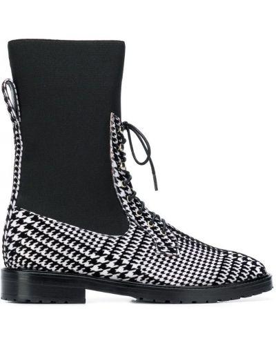 Ботинки белые черные Leandra Medine