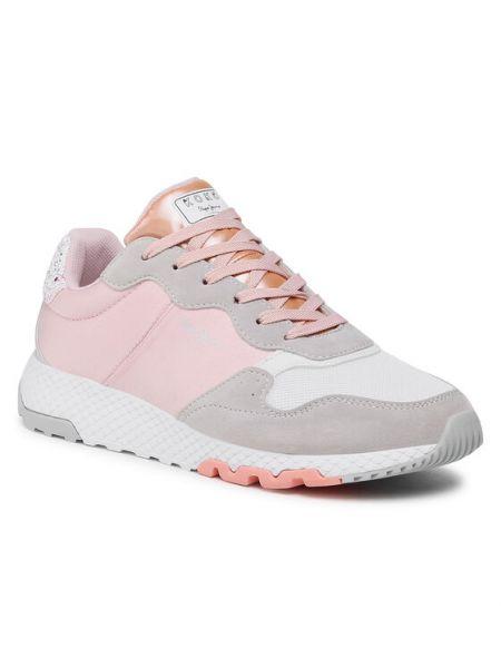 Różowe sneakersy Pepe Jeans