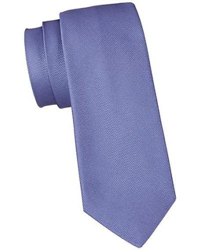 Fioletowy krawat z jedwabiu Saks Fifth Avenue Made In Italy