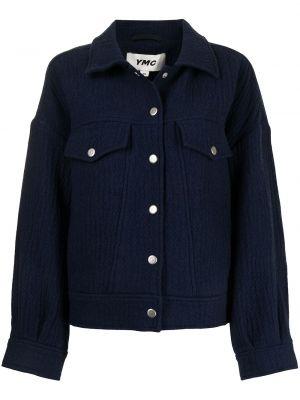 Niebieska klasyczna kurtka Ymc