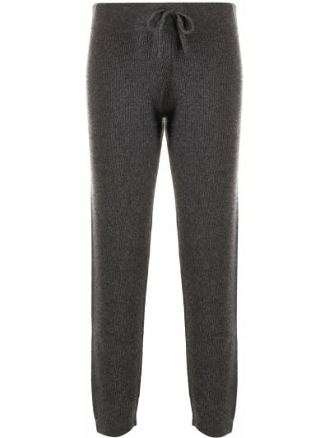 Спортивные брюки с завышенной талией - серые Cashmere In Love