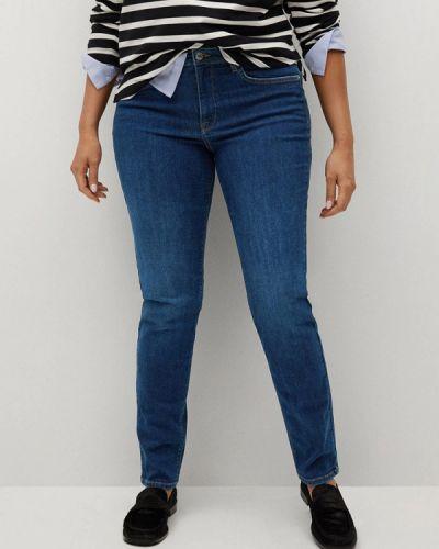 Синие джинсы-скинни узкого кроя Violeta By Mango