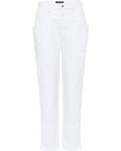 Amerykański biały wysoki dżinsowa jeansy Isabel Marant