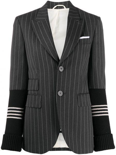 Однобортный белый удлиненный пиджак с карманами Neil Barrett