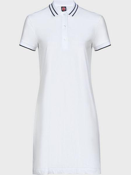 Хлопковое белое платье на пуговицах Colmar Originals
