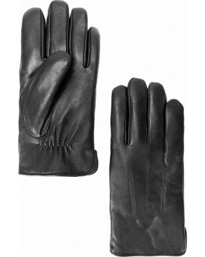 Кожаные перчатки из овчины черные Finn Flare