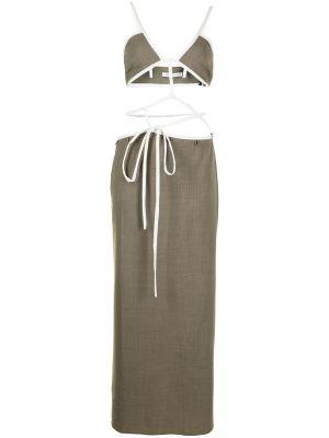 Хлопковое платье - коричневое Christopher Esber