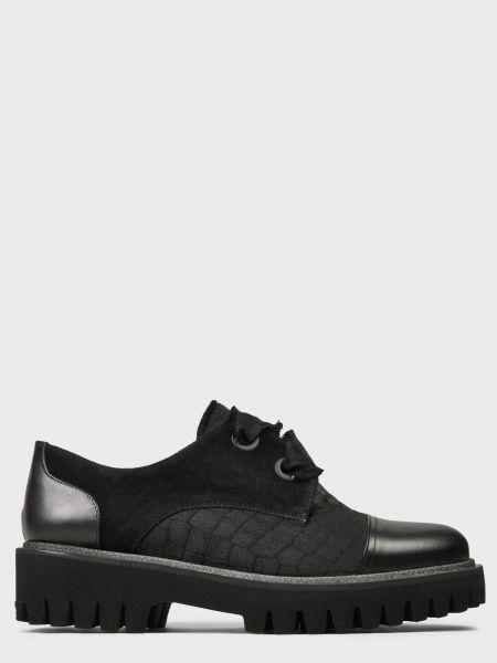 Кожаные туфли - черные Pertini