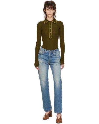 Niebieski skórzany jeansy z kieszeniami zabytkowe Acne Studios