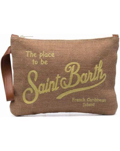 Beżowa kopertówka z printem bawełniana Mc2 Saint Barth Kids