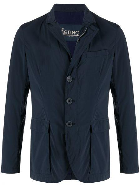 Прямой пиджак на молнии Herno