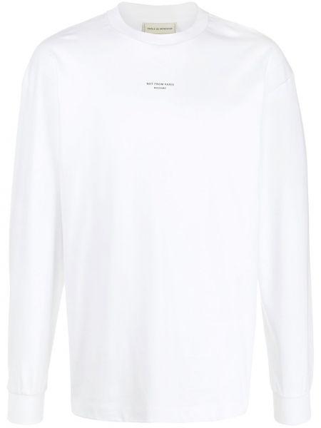 Prążkowany biały sweter bawełniany Drole De Monsieur