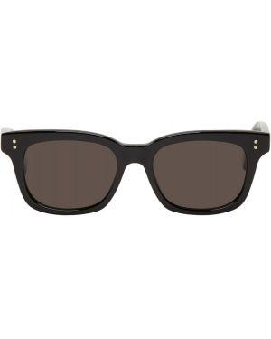 Мягкие черные солнцезащитные очки квадратные с завязками Second/layer