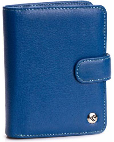 Кожаный кошелек - синий Eminsa
