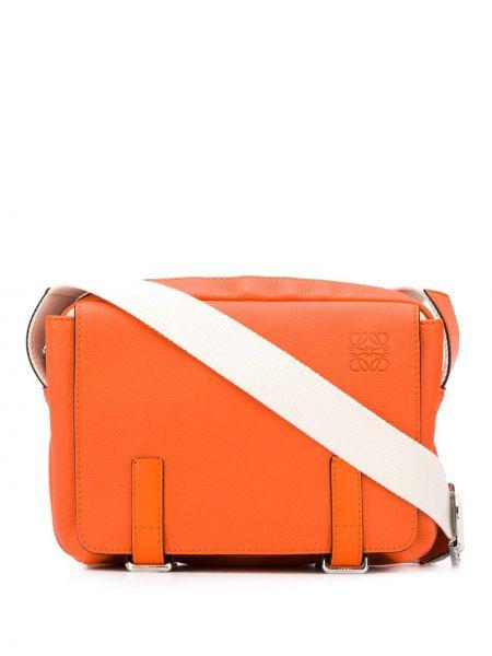 Skórzana torba posłaniec pomarańczowy Loewe
