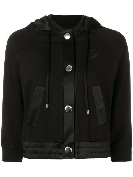 Куртка с капюшоном черная укороченная Emporio Armani
