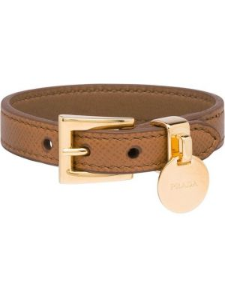 Кожаный браслет с подвесками Prada