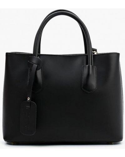 Кожаная сумка черная итальянский Lamania