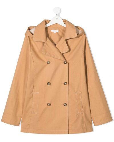 Klasyczny płaszcz z kapturem bawełniany Chloé Kids