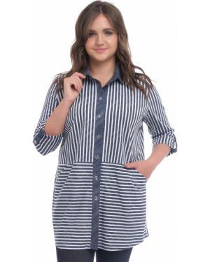 Блузка в полоску на пуговицах одевайте