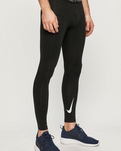 Ciepłe czarne legginsy materiałowe Nike