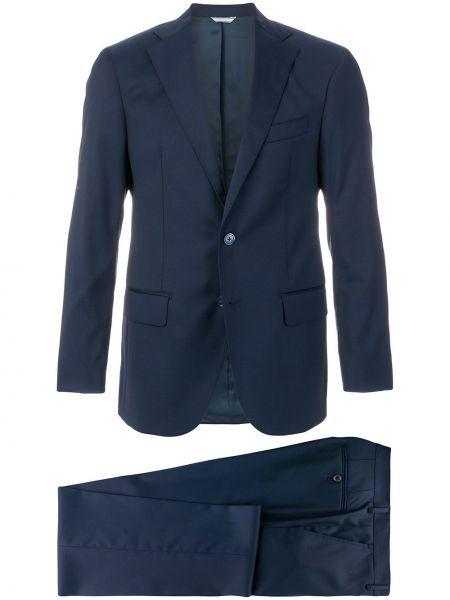 Niebieski garnitur wełniany Fashion Clinic Timeless