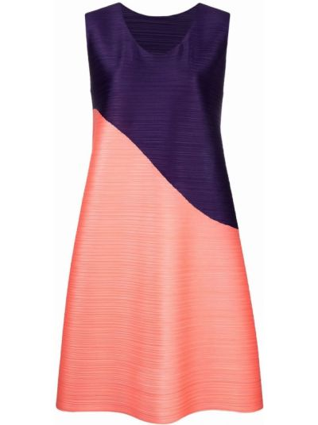 Плиссированное платье - фиолетовое Pleats Please Issey Miyake