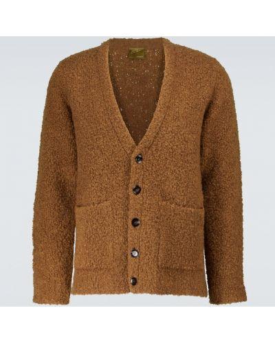 Brązowy klasyczny sweter Lardini