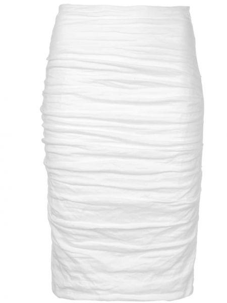 Spódnica z falbanami z wysokim stanem bawełniana Nicole Miller