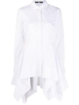 Z rękawami biały prosto tunika z długimi rękawami zapinane na guziki Karl Lagerfeld