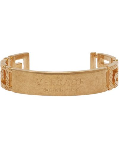 Otwarty bransoletka złoto Versace