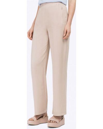 Бежевые брюки прямые Emka