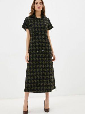 Платье рубашка - хаки мадам т
