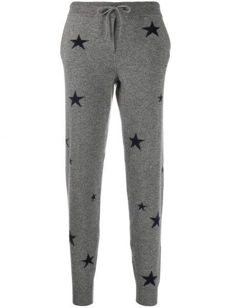 С кулиской кашемировые серые спортивные брюки Chinti & Parker