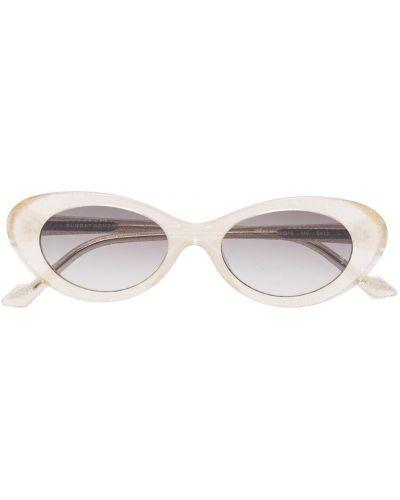 Прямые солнцезащитные очки металлические хаки Sunday Somewhere