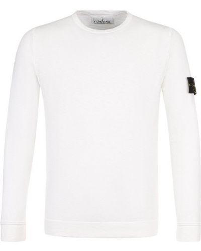 Белый свитер однотонный Stone Island